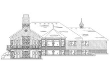 Dream House Plan - European Exterior - Rear Elevation Plan #5-359