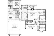 Country Floor Plan - Main Floor Plan Plan #21-386