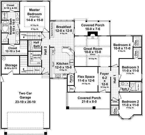 Country Floor Plan - Main Floor Plan Plan #21-386