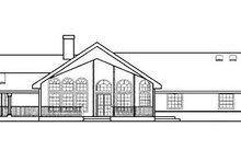 Ranch Exterior - Rear Elevation Plan #60-604