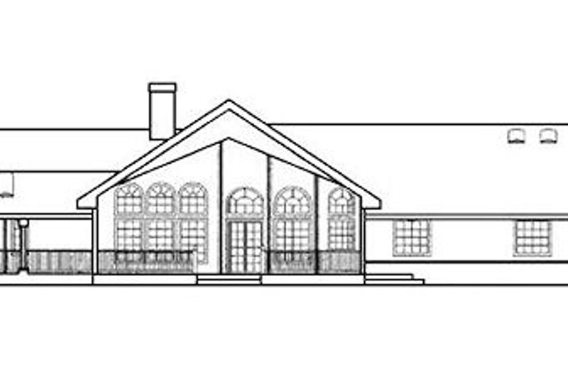 Ranch Exterior - Rear Elevation Plan #60-604 - Houseplans.com