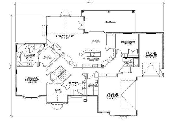 Traditional Floor Plan - Main Floor Plan Plan #5-286