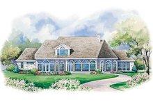 House Design - European Exterior - Rear Elevation Plan #20-1175