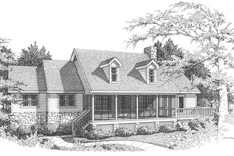 Architectural House Design - Country Exterior - Front Elevation Plan #10-287
