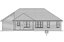 Craftsman Exterior - Rear Elevation Plan #46-897