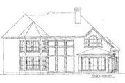 European Style House Plan - 5 Beds 3.5 Baths 3517 Sq/Ft Plan #20-1139 Exterior - Rear Elevation