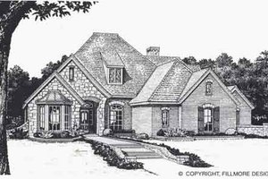 Colonial Exterior - Front Elevation Plan #310-850