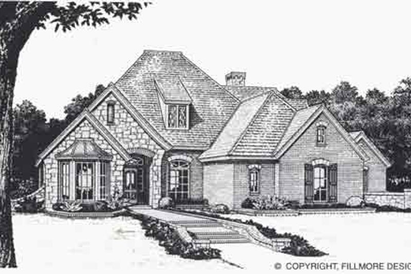 Colonial Style House Plan - 4 Beds 3.5 Baths 2674 Sq/Ft Plan #310-850 Exterior - Front Elevation
