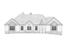 Architectural House Design - Craftsman Exterior - Front Elevation Plan #437-95