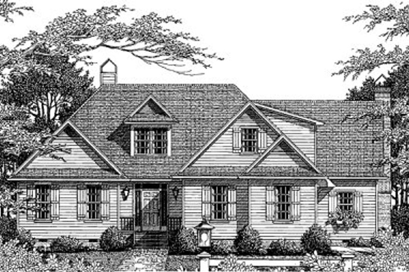 Traditional Style House Plan - 3 Beds 2.5 Baths 2113 Sq/Ft Plan #41-151 Exterior - Front Elevation