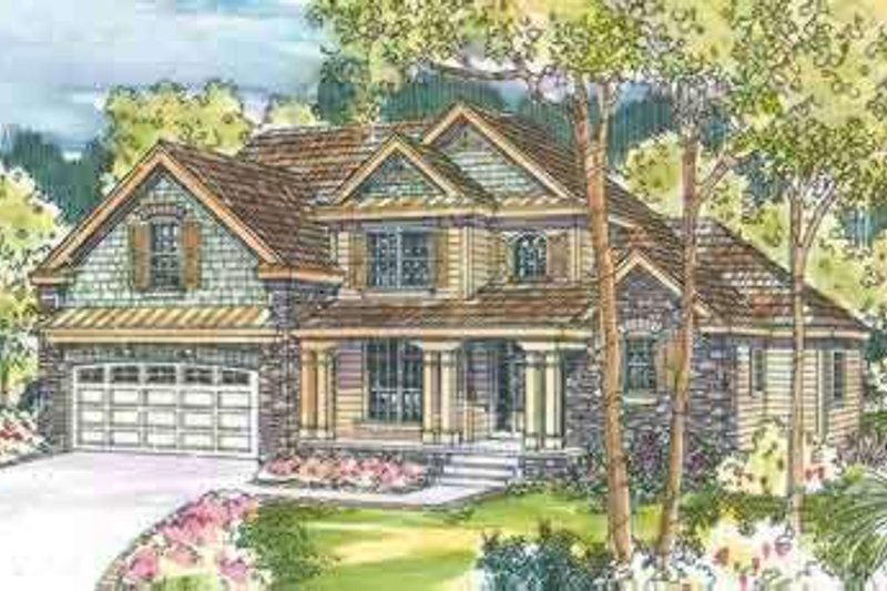 Country Exterior - Front Elevation Plan #124-539
