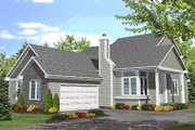 Traditional Style House Plan - 3 Beds 2.5 Baths 1941 Sq/Ft Plan #50-104 Exterior - Front Elevation