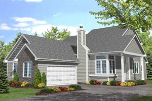 Traditional Exterior - Front Elevation Plan #50-104
