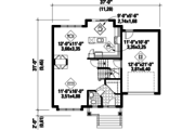Traditional Style House Plan - 3 Beds 1 Baths 1591 Sq/Ft Plan #25-4483 Floor Plan - Main Floor Plan