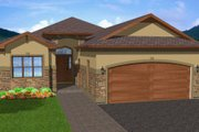 Mediterranean Style House Plan - 4 Beds 3 Baths 2895 Sq/Ft Plan #126-160 Exterior - Front Elevation