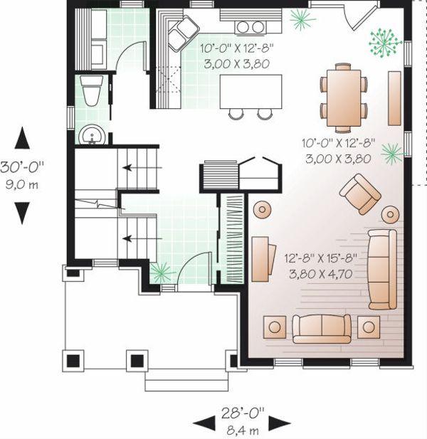 Traditional Floor Plan - Main Floor Plan Plan #23-737