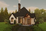 Cottage Style House Plan - 2 Beds 2 Baths 1285 Sq/Ft Plan #48-1029 Exterior - Rear Elevation