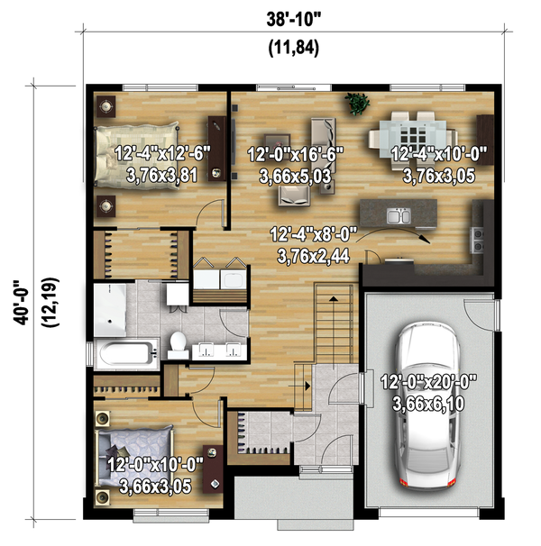 Contemporary Floor Plan - Main Floor Plan Plan #25-4371