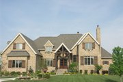 European Style House Plan - 5 Beds 6 Baths 7443 Sq/Ft Plan #458-7 Exterior - Front Elevation