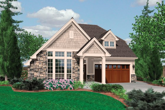 Traditional Exterior - Front Elevation Plan #48-568