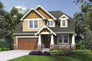 Cottage Exterior - Front Elevation Plan #48-1018