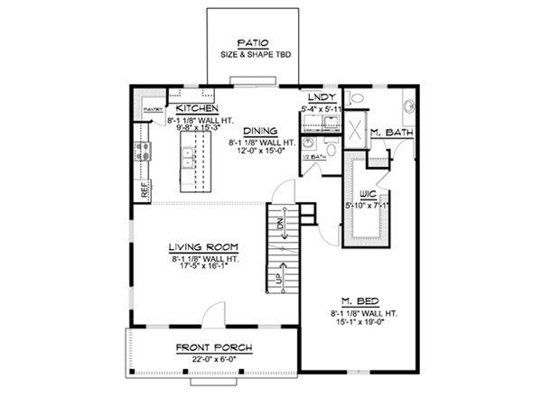 Home Plan - Cottage Floor Plan - Main Floor Plan #1064-22