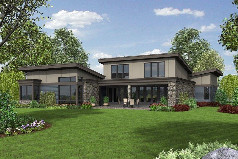 Modern Exterior - Rear Elevation Plan #48-497 - Houseplans.com