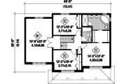 Contemporary Style House Plan - 3 Beds 2 Baths 2080 Sq/Ft Plan #25-4301 Floor Plan - Upper Floor Plan