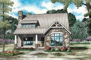 House Plan Design - Bungalow Exterior - Front Elevation Plan #17-2481
