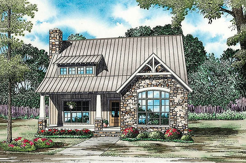 Bungalow Style House Plan - 3 Beds 2 Baths 1874 Sq/Ft Plan #17-2481 Exterior - Front Elevation