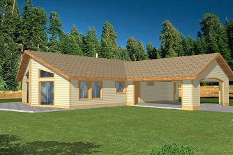 Ranch Exterior - Front Elevation Plan #117-528 - Houseplans.com