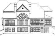 Classical Style House Plan - 4 Beds 4.5 Baths 4364 Sq/Ft Plan #119-113 Exterior - Rear Elevation