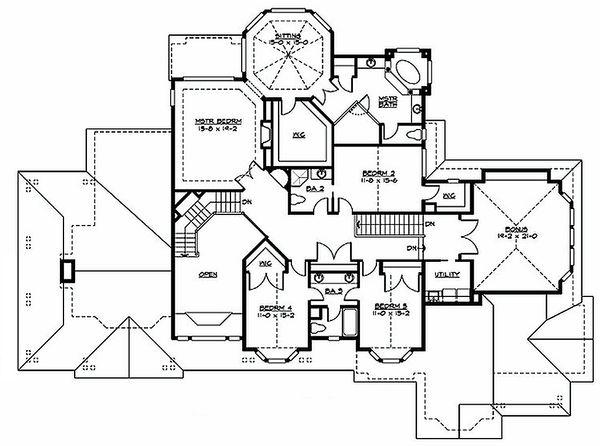 Craftsman style house plan, floorplan