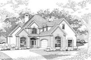 Traditional Style House Plan - 3 Beds 3 Baths 2288 Sq/Ft Plan #120-123 Exterior - Front Elevation