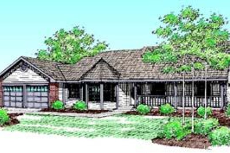 Traditional Exterior - Front Elevation Plan #60-396 - Houseplans.com
