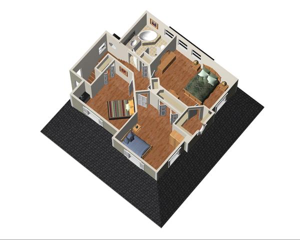 Country Floor Plan - Upper Floor Plan Plan #25-4552
