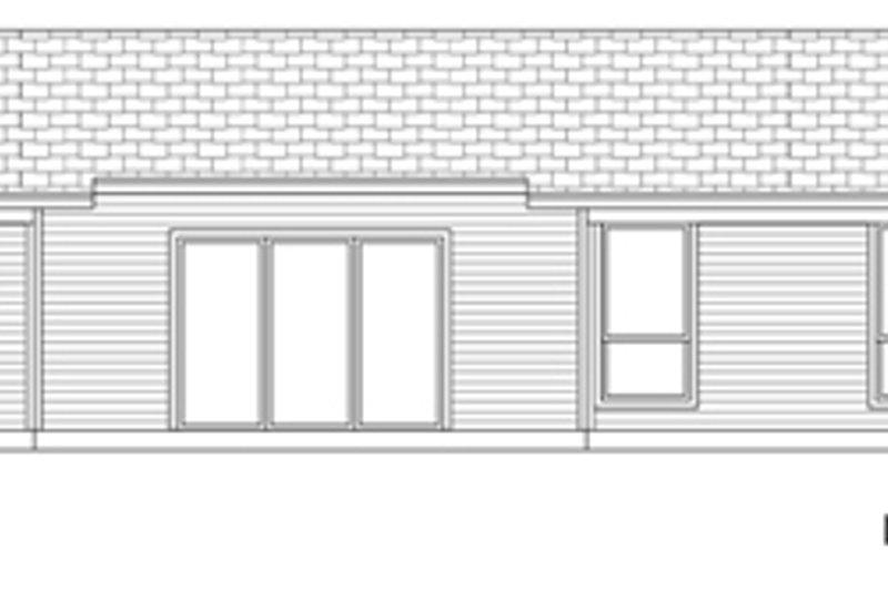 Modern Exterior - Rear Elevation Plan #84-517 - Houseplans.com