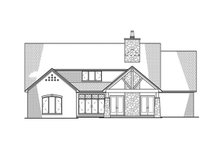 European Exterior - Rear Elevation Plan #923-96
