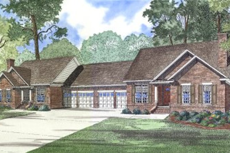 Dream House Plan - Traditional Exterior - Front Elevation Plan #17-1056