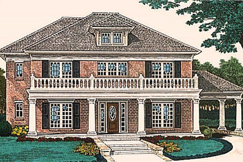 Colonial Exterior - Front Elevation Plan #310-684