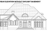 European Style House Plan - 4 Beds 3.5 Baths 4579 Sq/Ft Plan #119-360 Exterior - Rear Elevation