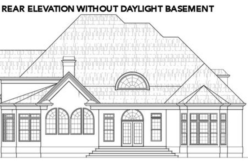 European Exterior - Rear Elevation Plan #119-360 - Houseplans.com