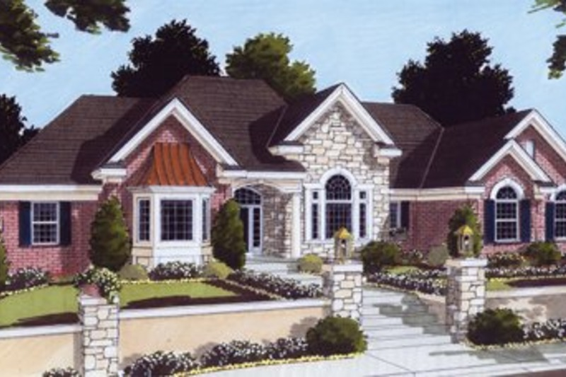 Traditional Exterior - Front Elevation Plan #46-102 - Houseplans.com
