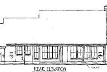 European Exterior - Rear Elevation Plan #410-174
