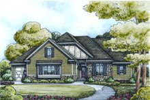 House Plan Design - European Exterior - Front Elevation Plan #20-2070