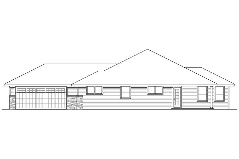 Prairie Exterior - Other Elevation Plan #124-911 - Houseplans.com