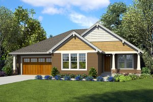 Ranch Exterior - Front Elevation Plan #48-925
