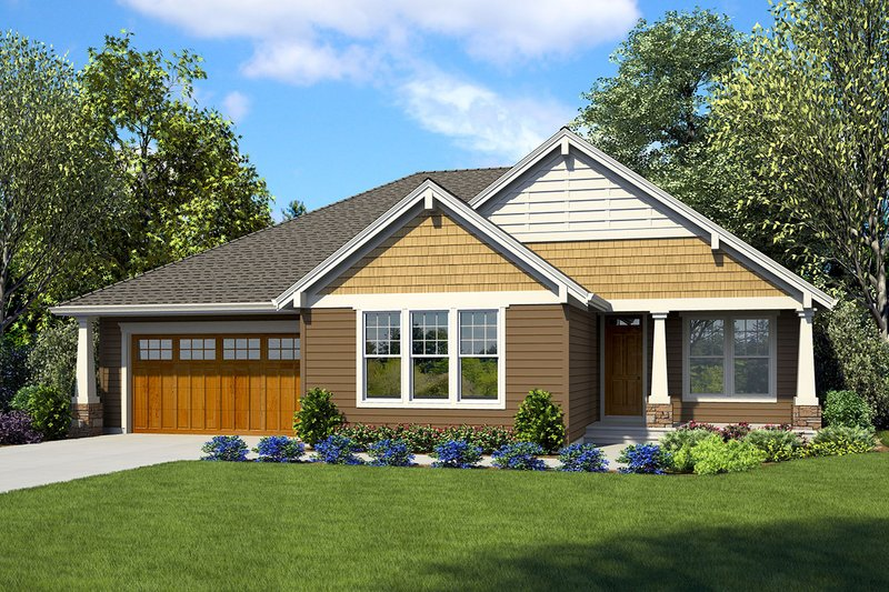 Ranch Style House Plan - 3 Beds 2.5 Baths 2137 Sq/Ft Plan #48-925 Exterior - Front Elevation