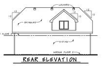 Traditional Exterior - Rear Elevation Plan #20-2372