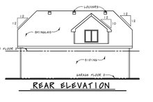 Dream House Plan - Traditional Exterior - Rear Elevation Plan #20-2372